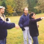 Andrea planning in the back field circa 1990s