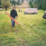 building projects in the back field circa 1990s