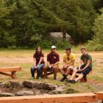 staff hanging out at upper campfire 2015